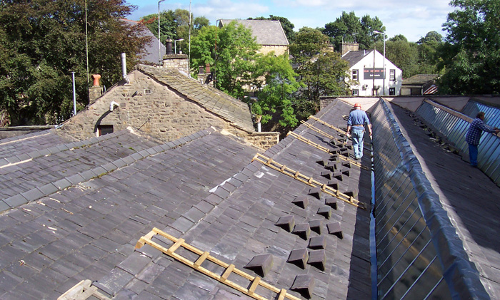 north light weaving shed roof repairs