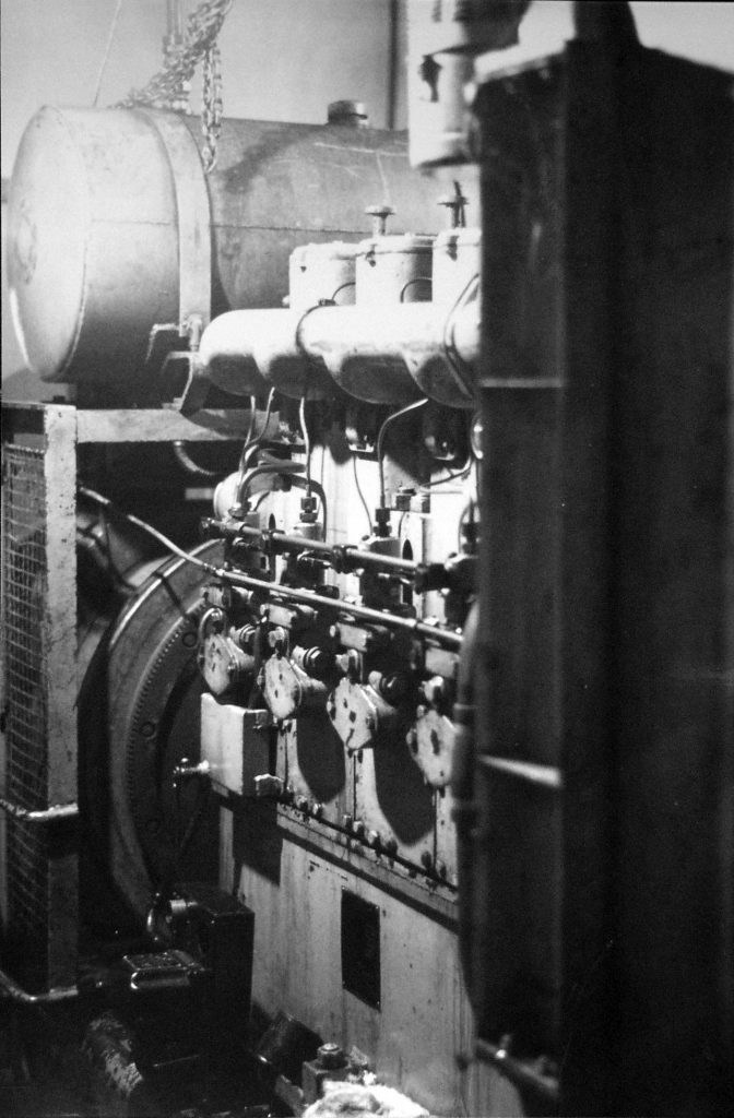 Electric Generator at Higherford Mill in 1968